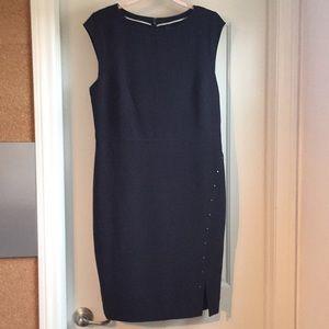 Blue sheath studded dress